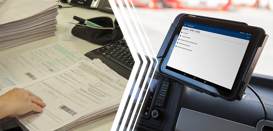 Trimble's document management solution contributes to digitization and 100% paperless transport